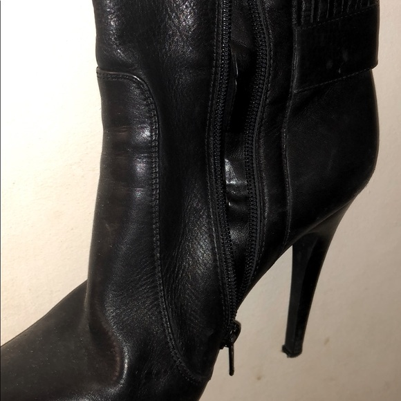 Authentic High Heel Leather Women's Boots